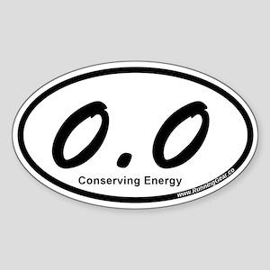 Zero Point Zero Sticker (Oval)