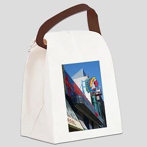 Albuquerque Street Scene Canvas Lunch Bag