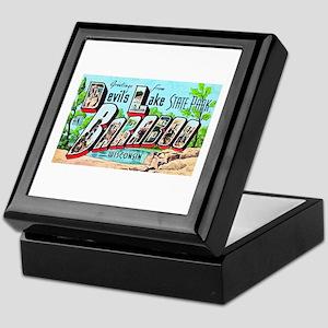 Baraboo Wisconsin Greetings Keepsake Box