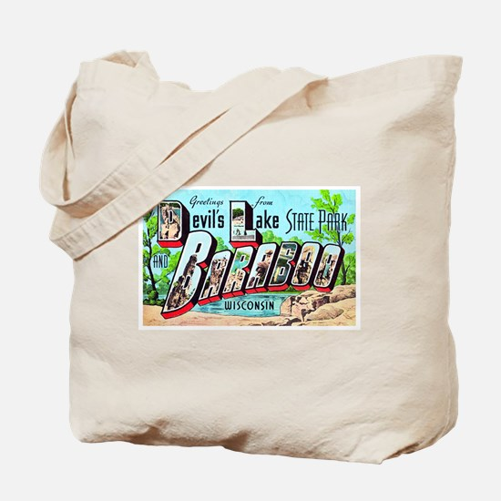 Baraboo Wisconsin Greetings Tote Bag