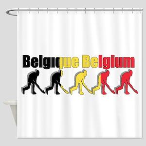 Belgium Field Hockey Shower Curtain