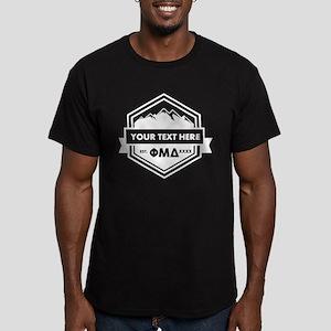 Phi Mu Delta Ribbon Men's Fitted T-Shirt (dark)
