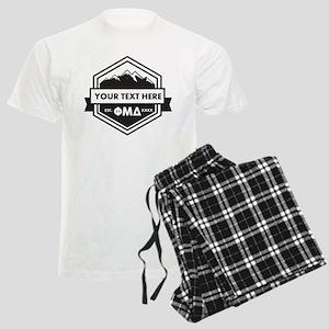 Phi Mu Delta Ribbon Men's Light Pajamas