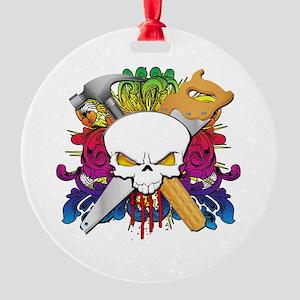 Carpenter Skull Round Ornament
