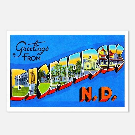 Bismarck North Dakota Greetings Postcards (Package