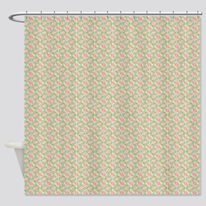 Shower Curtains Retro Atomic Era Starburst Multi Shades Geometric
