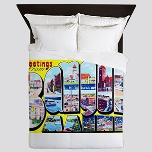 Bangor Maine Greetings Queen Duvet