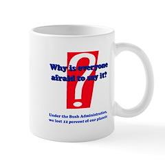 Bush lost pluto Mug