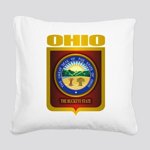 Ohio State Seal (B) Square Canvas Pillow