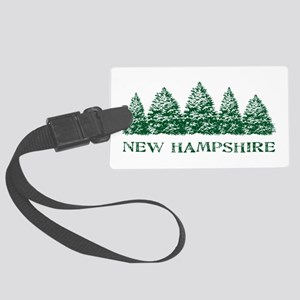 NH Winter Evergreens Large Luggage Tag