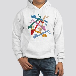 Colorful Bass Clarinets Hooded Sweatshirt