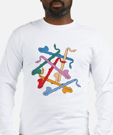 Colorful Bass Clarinets Long Sleeve T-Shirt