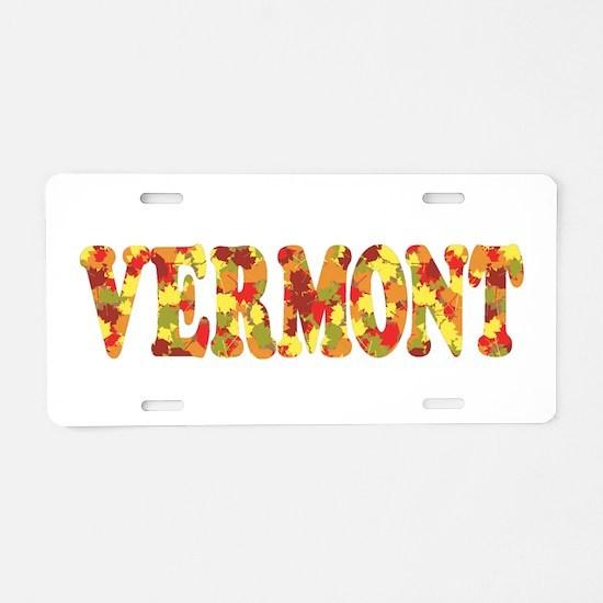 Autumn in Vermont Aluminum License Plate