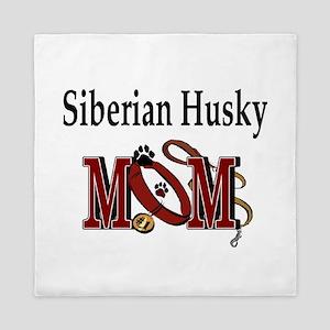 Siberian Husky Mom Queen Duvet