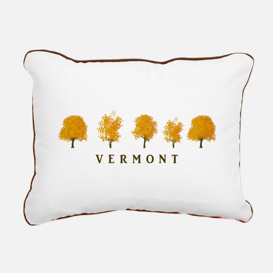 Autumn Trees - Vermont Rectangular Canvas Pillow