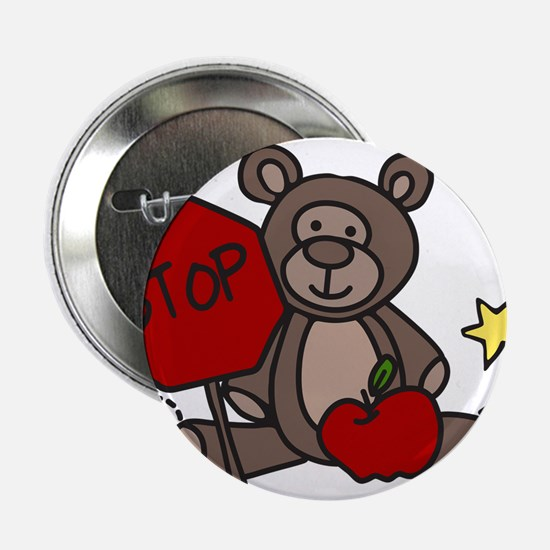 "Crossing Guard Bear 2.25"" Button"