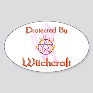 Protected By Witchcraft Oval Sticker