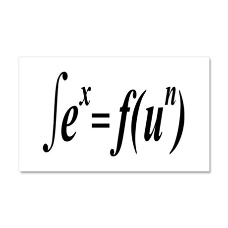 Integral Calculus Is Fun and Sexy Car Magnet 20 x