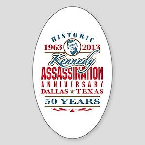 Kennedy Assassination Anniversary 2013 Sticker (Ov