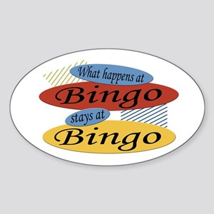 Happens At Bingo Oval Sticker