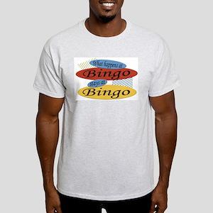 Happens At Bingo Ash Grey T-Shirt