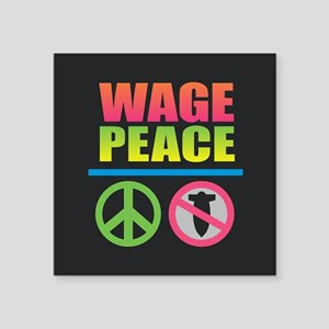 Wage Peace Rainbow Sticker
