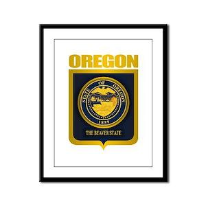 Oregon State Seal (B) Framed Panel Print