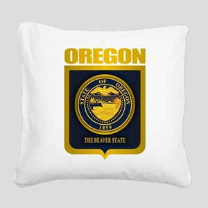 Oregon State Seal (B) Square Canvas Pillow