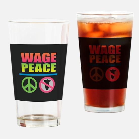 Wage Peace Rainbow Drinking Glass