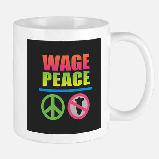 Wage Peace Rainbow Mugs