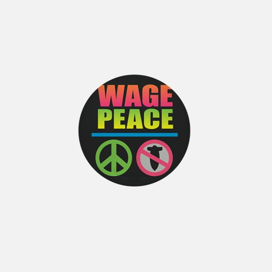 Wage Peace Rainbow Mini Button