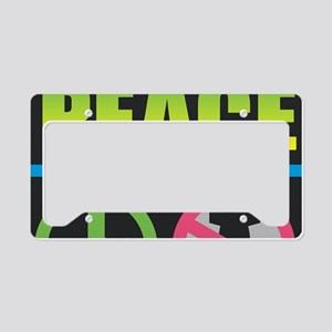 Wage Peace Rainbow License Plate Holder