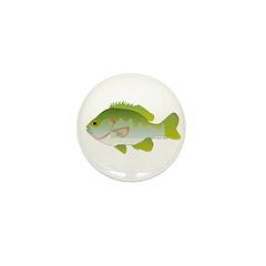 Redear Sunfish fish Mini Button (100 pack)