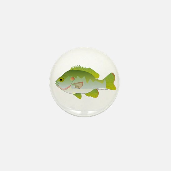 Redear Sunfish fish Mini Button