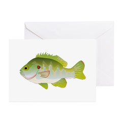 Redear Sunfish fish Greeting Cards (Pk of 10)