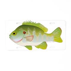 Redear Sunfish fish Aluminum License Plate
