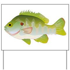 Redear Sunfish fish Yard Sign
