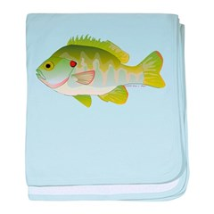 Redear Sunfish fish baby blanket