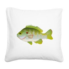 Redear Sunfish fish Square Canvas Pillow