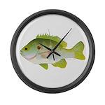 Redear Sunfish fish Large Wall Clock