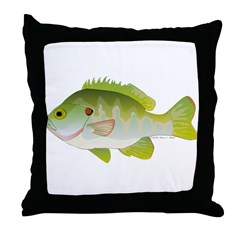 Redear Sunfish fish Throw Pillow