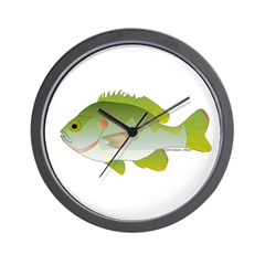 Redear Sunfish fish Wall Clock