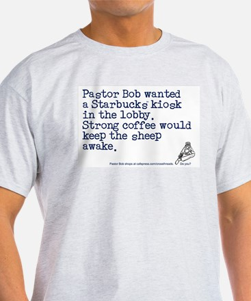Strong Coffee for the Sheep Ash Grey T-Shirt
