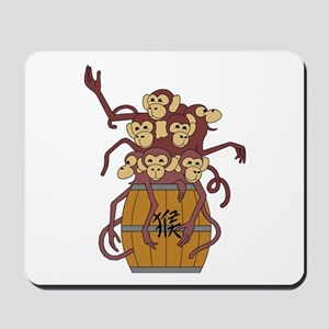 Funny Year of The Monkey Mousepad