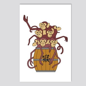 Funny Year of The Monkey Postcards (Package of 8)
