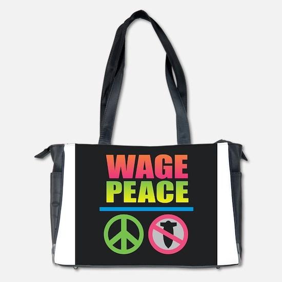 Wage Peace Rainbow Diaper Bag