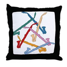 Colorful Alto Clarinets Throw Pillow