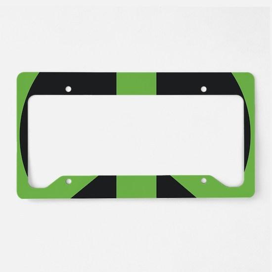 Peace Symbol Green License Plate Holder