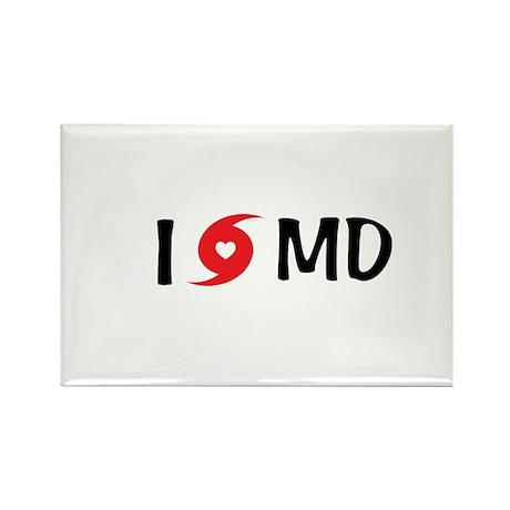 I LOVE MD Rectangle Magnet