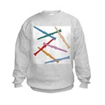 Colorful Clarinets Kids Sweatshirt
